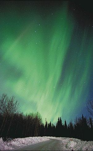 Imagen de una aurora boreal. (Foto: AFP)