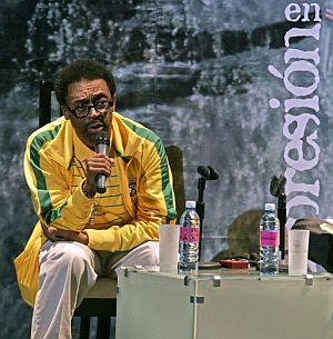 Spike Lee, durante la rueda de prensa que ofreció en Guanajuato. (Foto: EFE)