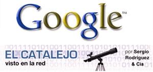 Los logos de Google y este blog, como los vería un daltónico.