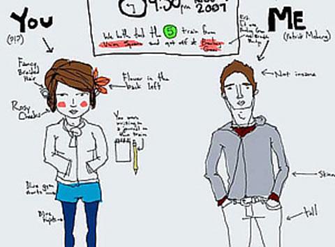 Uno de los dibujos que Patrick colgó en su web para encontrar a Camille.