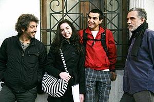 Trueba, junto a Ricardo Darín, Abel Ayala y Miranda Bodenhöfer.