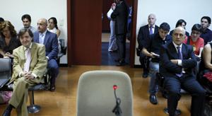 Jiménez Losantos y Zarzalejos, durante el juicio. (Foto: EFE)