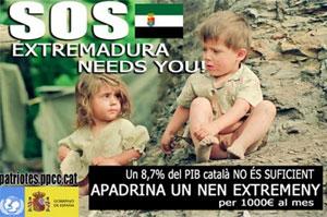 El polémico cartel del concejal tarraconense. (Foto: http://lluissunye.blogspot.com/)