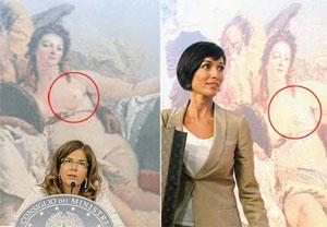 El cuadro de Tiepolo retocado (Foto: Corriere.it)