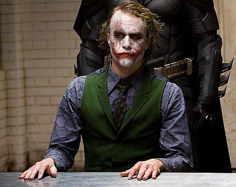 El desaparecido Heath Ledger, en el papel de Joker.