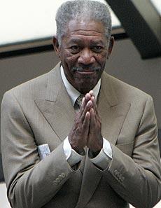 Morgan Freeman, en 'El caballero oscuro'.