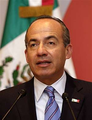 Felipe Calderón, presidente de México. (Foto: AP)