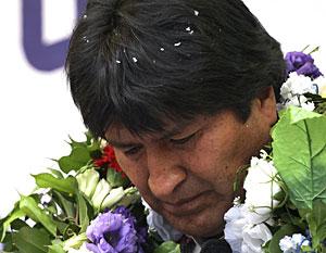 Morales, este miércoles en Tarija. (Foto: Gaston Brito | REUTERS)