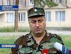 El presidente de Osetia del Sur, Eduard Kokoity, se dirige a la población. (Foto: AP)