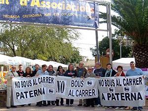 Imagen de una de las protestas organizadas por la plataforma antitaurina.