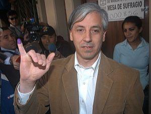 El vicepresidente Álvaro García Linera, después de la votación. (Foto: AFP)