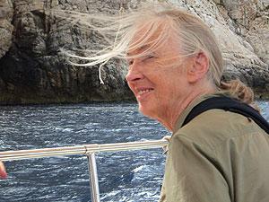 Jane Goodall durante su visita a la isla Sa Dragonera. (Foto: IJG España)