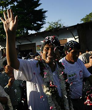 Evo Morales, el día del referéndum. (Foto: REUTERS)