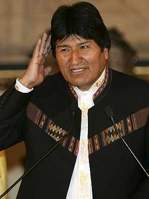 Evo Morales, durante su comparecencia ante la prensa. (Foto: EFE)