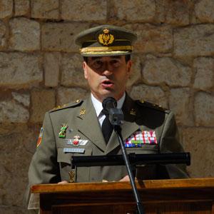 Juan Carlos Domingo Guerra en un momento de su intervención. (Foto: Cati Cladera)