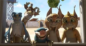 Fotograma con algunos de los personajes de 'El lince perdido'. (Foto: Kandor Moon)