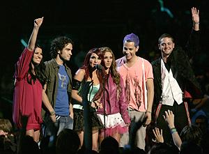 Los componentes de RBD, en los premios MTV Latin de 2007. (Foto: AP)