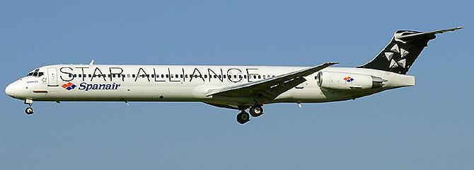 El avión que se estrelló ayer en Madrid, fotografiado en pleno vuelo el pasado 16 de julio. (Foto: AFP)