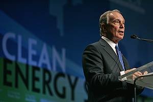 Michael Bloomberg, alcalde de Nueya York, durante la Cumbre Nacional sobre Energías Limpias celebrada en Las Vegas, EEUU. (Foto: Steve Marcus)