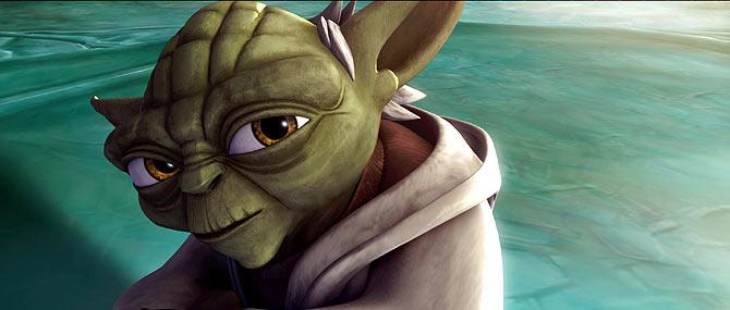 Yoda, el poderoso Jedi, reencarnado en un dibujo animado. (Foto: REUTERS)