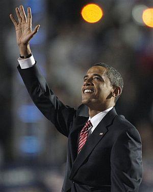 Barack Obama, en su discurso en la Convención Demócrata en Denver. (Foto: AP)