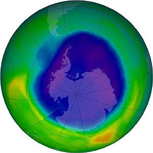 Recreación del agujero de la capa de ozono en 2007. (Foto: NASA)