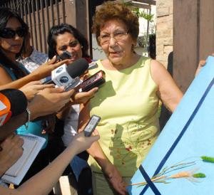 Mercedes Lugo de Maidana ante los medios. (Foto: Flickr).