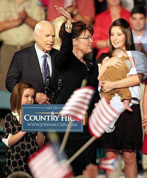 Sarah Palin, el día de su presentación como candidata a la Vicepresidencia en Dayton. (Foto: EFE)