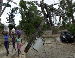 Los estragos causados por la tormenta tropical. (AFP)