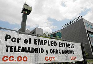 Sede de Telemadrid. (Foto: Diego Sinova)