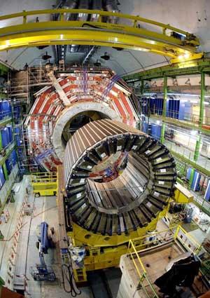 Uno de los detectores del Gran Colisionador de Hadrones (LHC).