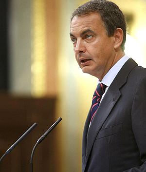 Zapatero durante la comparecendia extraordinaria en el Congreso. (Foto: EFE)
