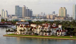 Vista de la exclusiva zona de Fisher Island , en Miami. (Foto: Getty Images).