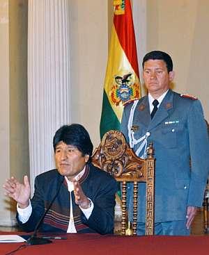 El presidente de Bolivia, Evo Morales, se dirige a los ciudadanos. (Foto: AFP)