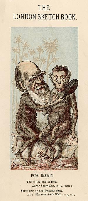 Caricatura ridiculizando a Darwin publicada en 1874. (Foto: MARY EVANS PICTURE LIBRARY)