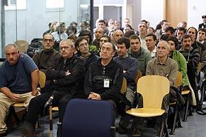Responsables de Gestoras Pro Amnistía, durante el pasado juicio en la Audiencia Nacional. (Foto: POOL)