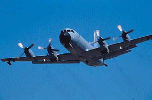 Un avión de patrulla marítima P-3 Orión. (Foto: Ministerio de Defensa)