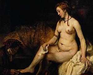 'Betsabé', de Rembrandt, obra que prestará el Museo del Louvre al Prado.