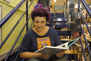 Nuria Vera, librera especializada en cómic, tebeo e historieta (Foto: XAUME OLLEROS).