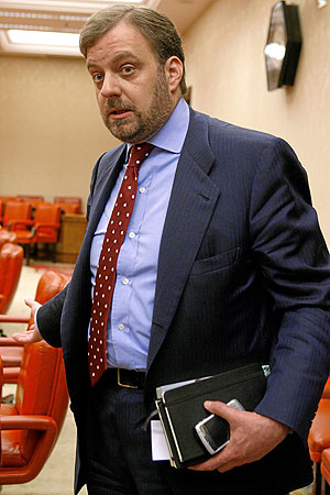 El diputado, durante una comisión de Exteriores en el Congreso. (Foto: Antonio Heredia)