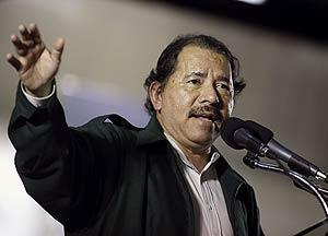 El presidente, Daniel Ortega, durante un mitin. (Foto: REUTERS)