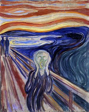 El cuadro 'El grito', de Edvard Munch.
