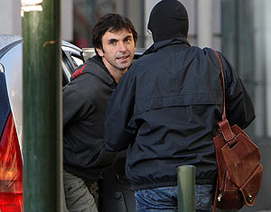 Xabi Larralde, portavoz de Batasuna en Francia. (Foto: EFE)