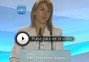 María Dolores de Cospedal. (Vídeo: Atlas)