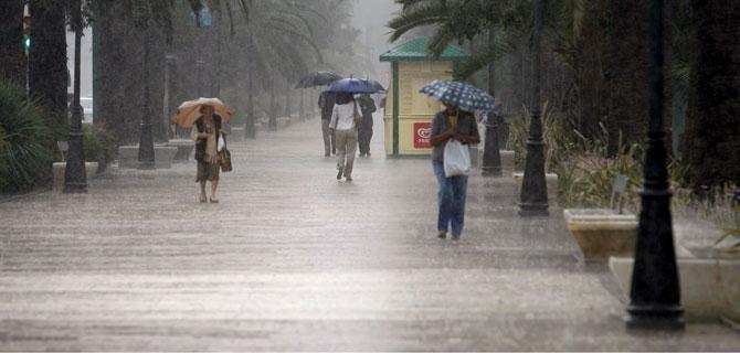 Lluvias torrencias caídas en Málaga en septiembre tras meses de sequía. (FOTO: Efe)