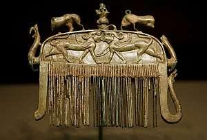 Detalle de un peine del siglo VII a.C. (Foto: EFE)