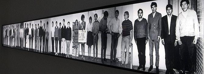 """Aspecto de la exposición permanente """"Memorial del 68"""" en el Centro Cultural Universitario de Tlatelolco. (Foto: EFE)"""