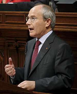 Montilla, este miércoles, en el Parlamento catalán. (Foto: EFE)