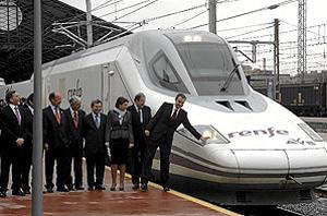 Inauguración del AVE en Valladolid el pasado mes de diciembre. (Foto: CARLOS ESPESO)