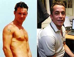 Anthony Morley y su víctima, Damian Oldfield.